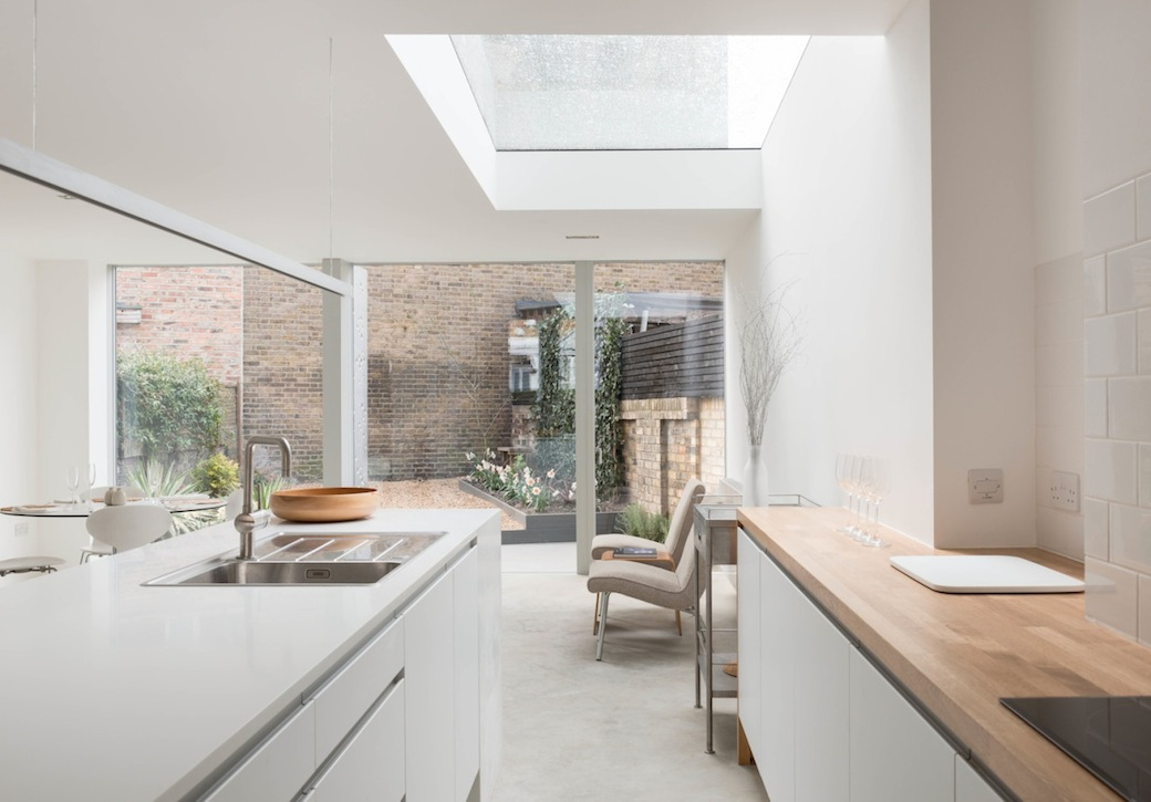 A terraced house reborn for House extension interior designs