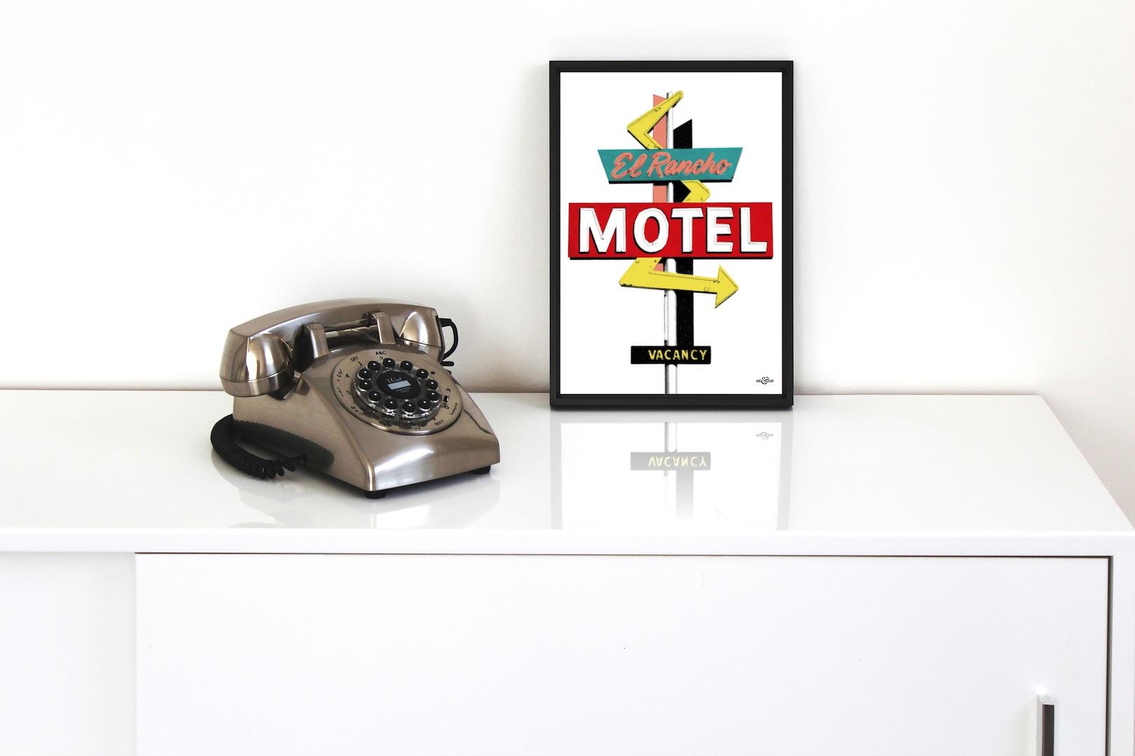 A4 Motel El Rancho Frame Art & Hue