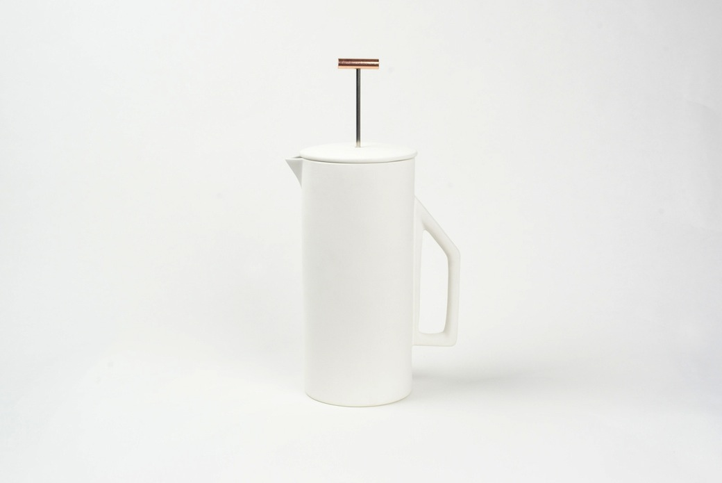 Ceramic French Press Cafetière by Yield Design