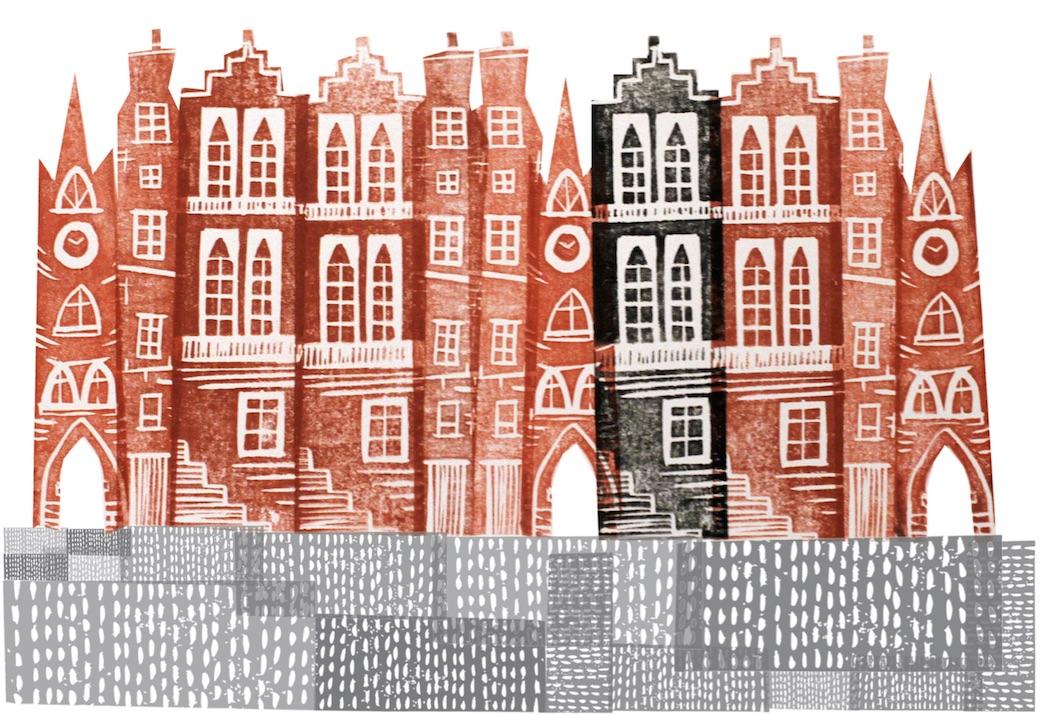 Old Town print by Jenni Douglas.
