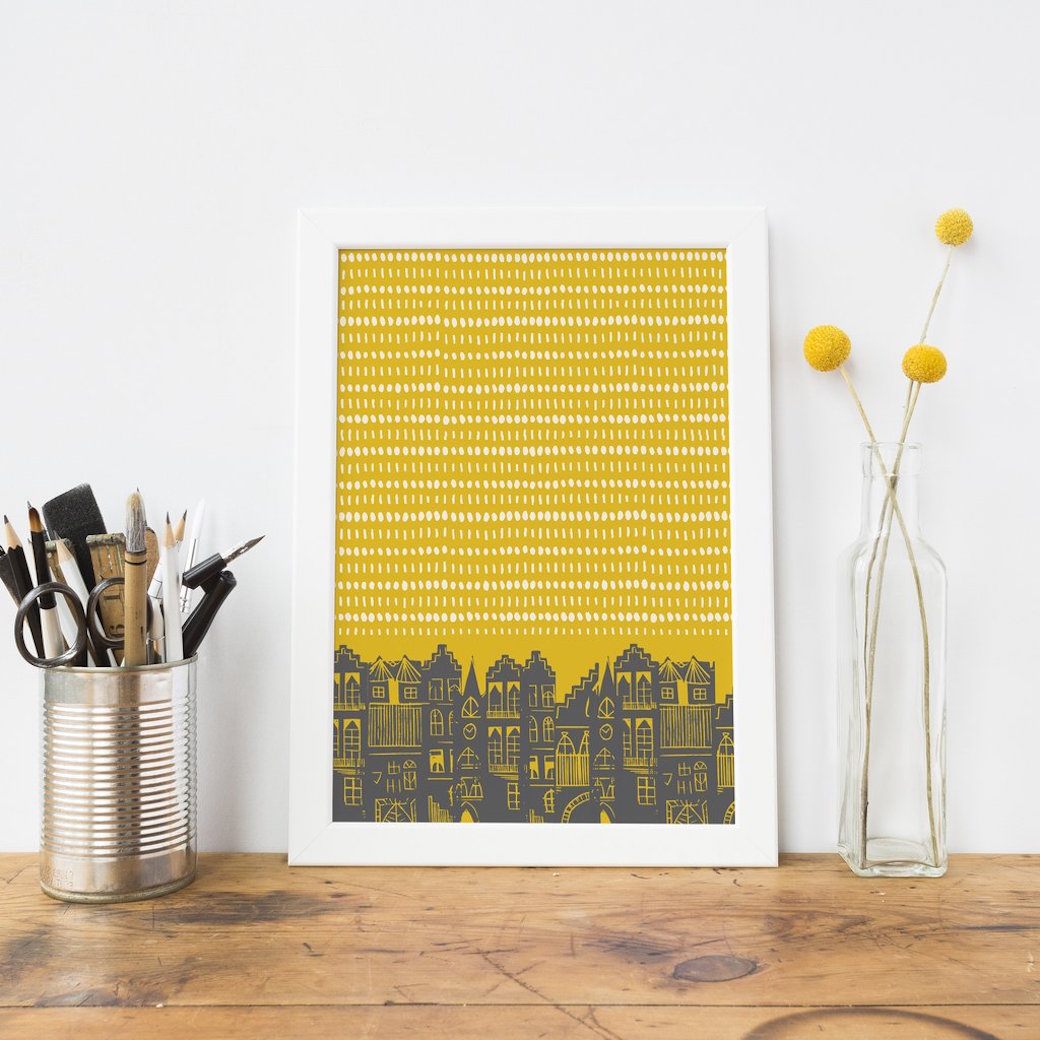 An Edinburgh Day Print by Jenni Douglas.