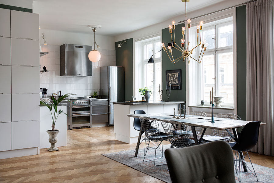 Stockholm apartment, photo by Johan Sellen.