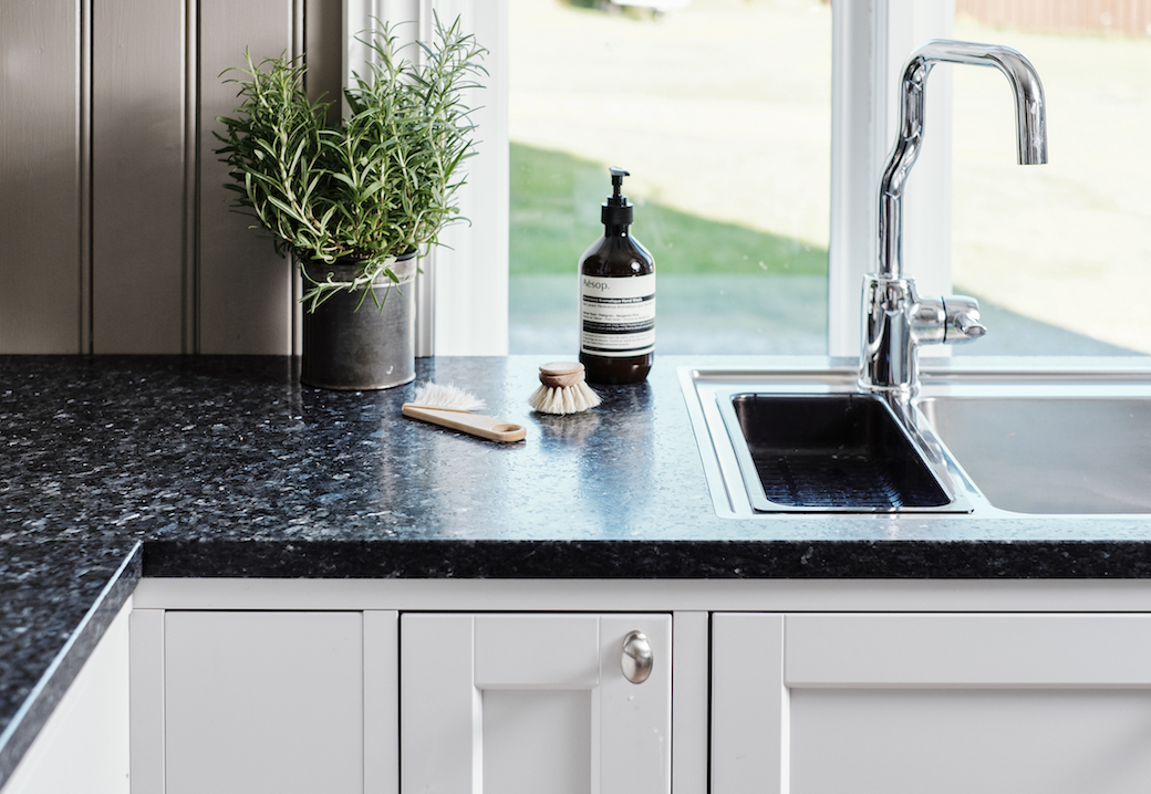 Lundhs Blue kitchen worktop