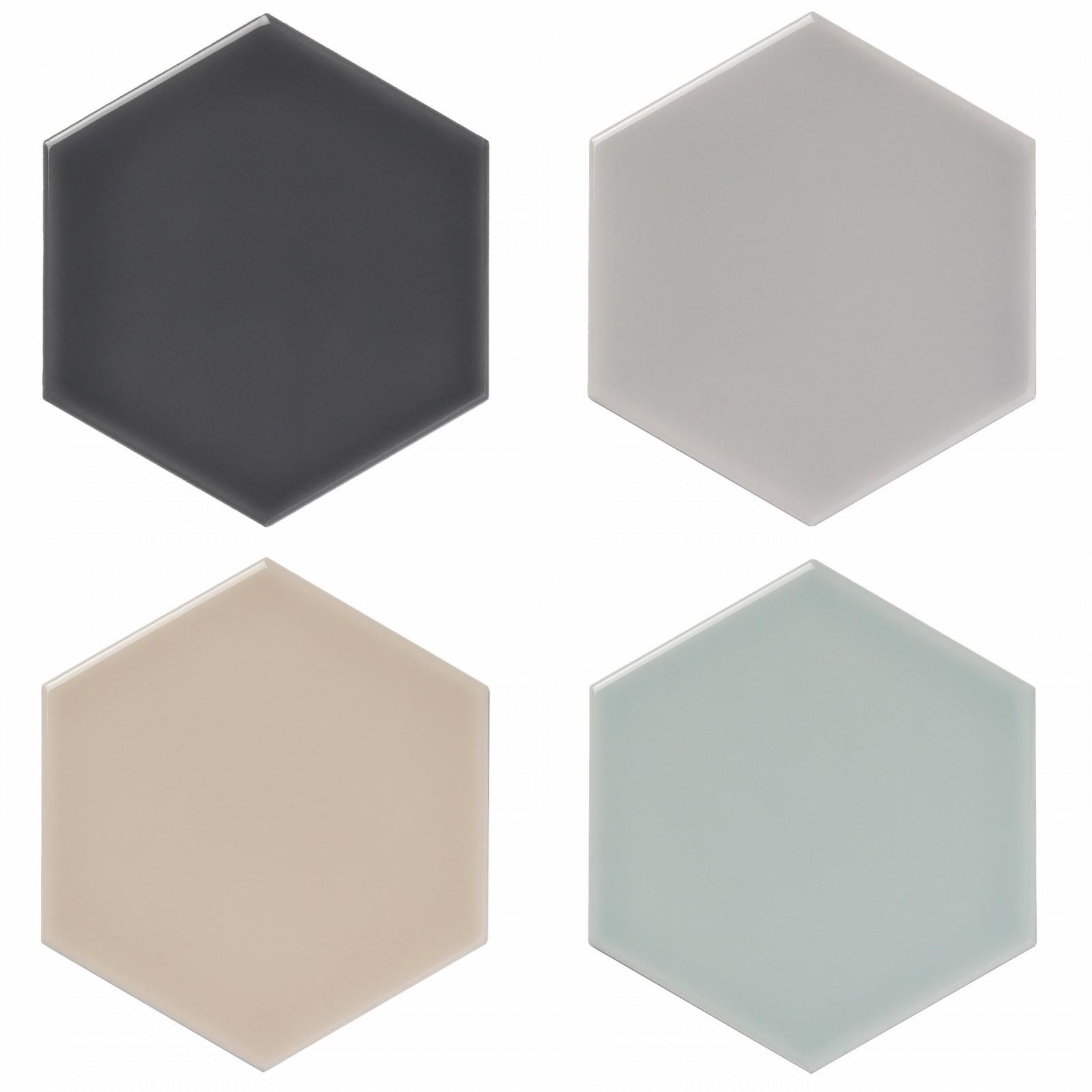 Savoy hexagon tiles by Gemini Tiles.
