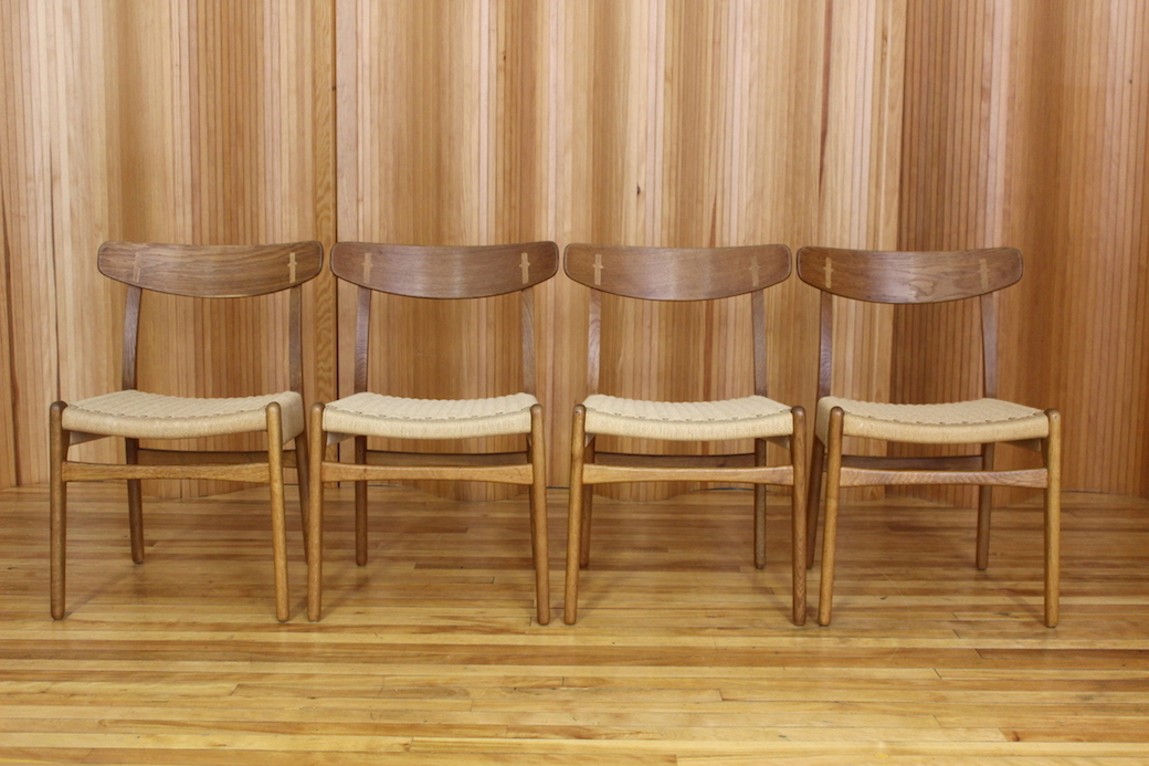 Set of four Hans Wegner dining chairs, model CH23, Carl Hansen & Son