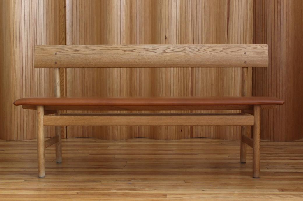 Børge Mogensen oak bench, model 171, Fredericia Stolefabrik