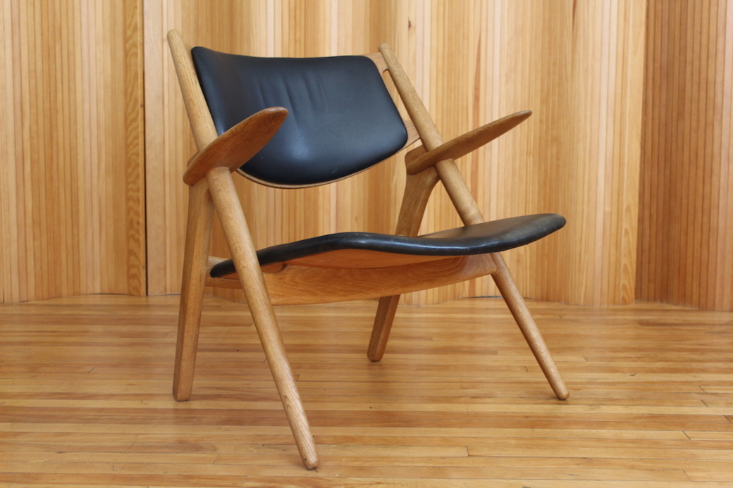Hans Wegner 'Sawbuck'/ 'Sawhorse' lounge chair, model CH28