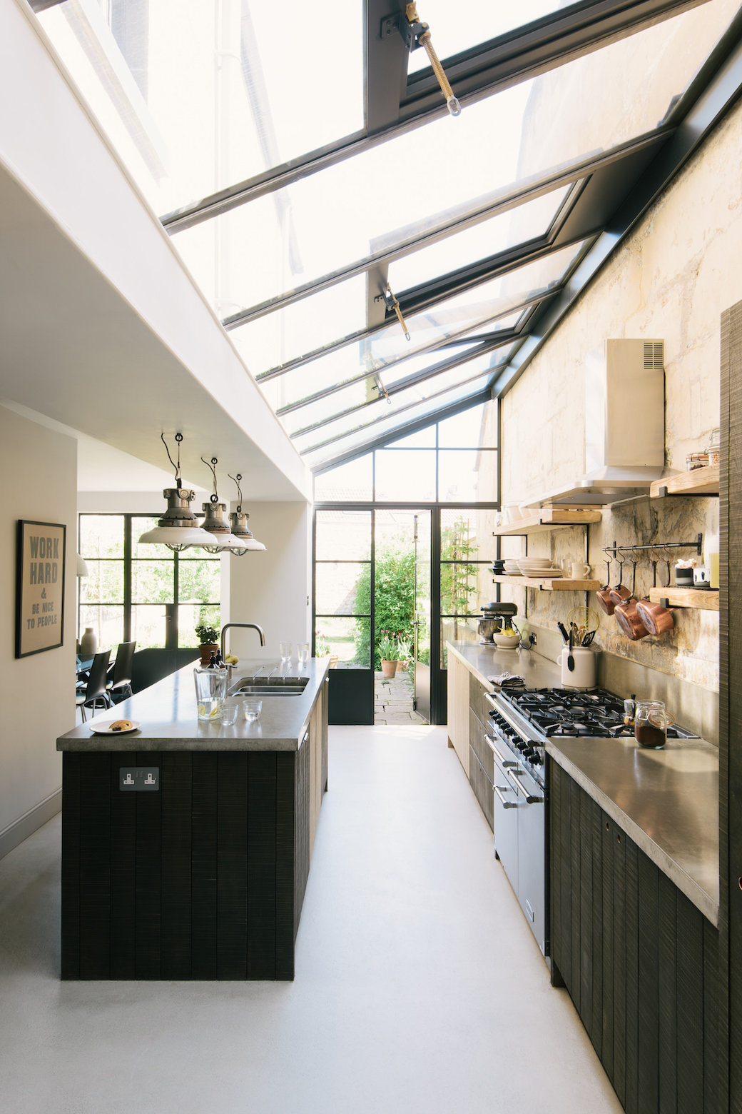 This kitchen in Bath showcases the Sebastian Cox cabinets brilliantly as the owners a chef and a fashionista combined the rough sawn cupboards with a ... & The Larkhall kitchen by deVOL